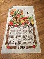 1986 Harvest Tea Towel