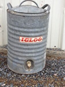 Old school/ antique galvanized Igloo  cooler