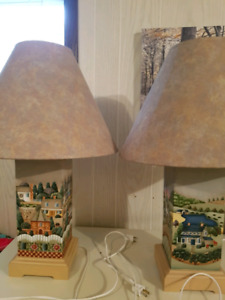 Hand painted lamps.
