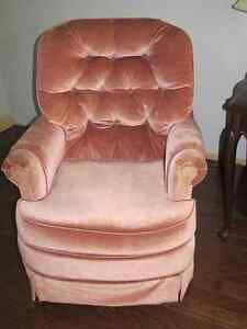 Dusty Rose Rocking Chair
