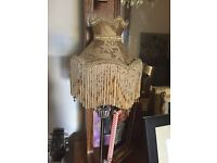Small downtown Abbey table lamp with beaded detail.