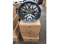 """18"""" Bmw alloy wheels alloys rims tyre tyres 5x120"""