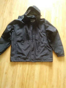 Men's waterproof rain jacket size Large