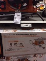 "Rigid 10"" portable table saw with stand"