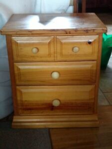Solid Pine Nightstand Table
