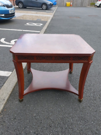 31. Solid wood lamp table