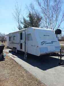 2001 chev and 1999 travel trailer hunter special