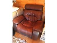 Brown Leather Lazy Boy Recliner
