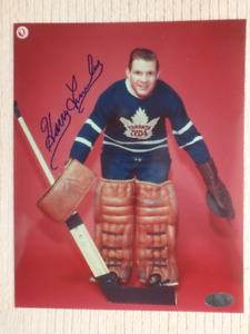 HARRY LUMLEY Toronto Maple Leafs Autographed 8x10 Photo W/COA
