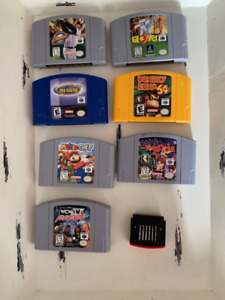 Assorted N64 Video Games, $10-30