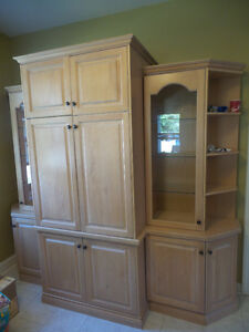7 PIECES MAPLEWOOD CABINET