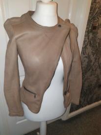Asymmetric leather jacket size 8