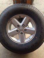 Jeep wrangler rim and tire
