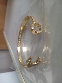 Gold filled luxury sparkle spanner wrench bracelet new adjustable