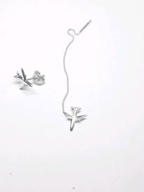 ✈🎁Airplane Thread Drop Earrings 925S.S