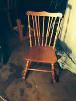 Armless small rocking chair