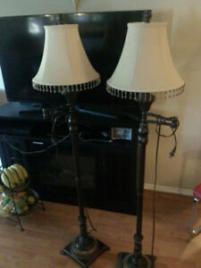 2 Set Of Lamps Marble Base Excellent Condition