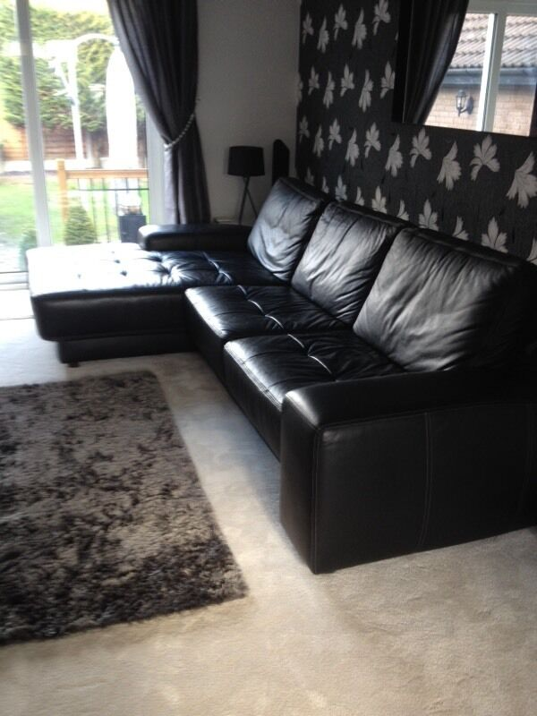 Furniture village black corner sofa purchase sale and for Furniture village sale