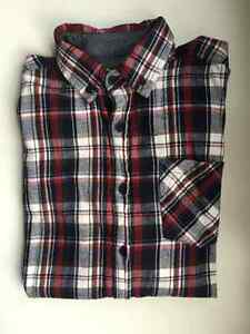 Red, Navy and White Flannel Shirt