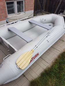 Amazing Inflatable Boat With 2 Oars + Motor for Sale!
