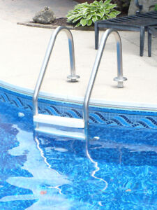 Inground Jacuzzi pool ladder