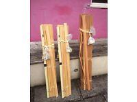 3 x Wooden blinds
