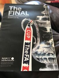 Official FA cup match day programme Arsenal v Manchester united