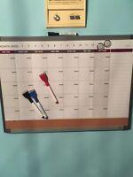 Calendar white board