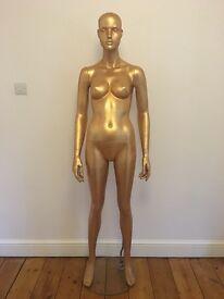 Never Used Glitter Gold Mannequin