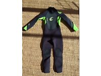 Childs full wetsuit age 6 - 8 Circle One brand