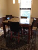 Beautiful multi-tone mosaic stone table set