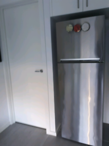 Beko stainless steel top mount fridge