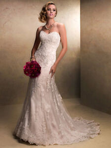 "Maggie Sottero ""Emma"" Wedding gown in ivory size 18"