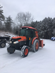 kubota l5740 950 hours with normand inverted blower