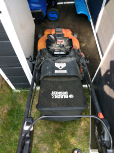 Balck and Decker cordless electric lawnmower