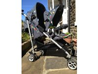 Double pram Cosatto - hardly used very good condition.