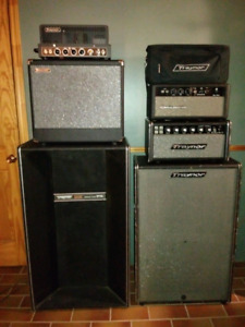Traynor and Ampeg Tube Amps and cabs