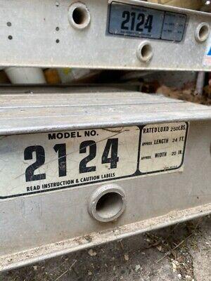 Lot Of 2 - 24ft Werner Aluminum Scaffolding Stage Platforms Model2124 - 24 Ft.