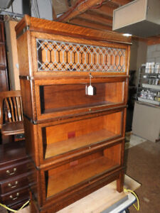 several antique barrister bookcases (restored) Part 1