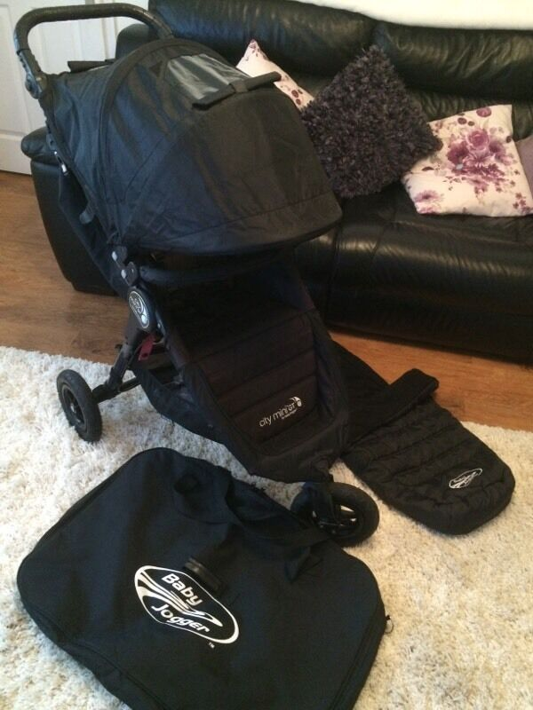 Baby Jogger City Mini Gt Pushchair Black Footmuff