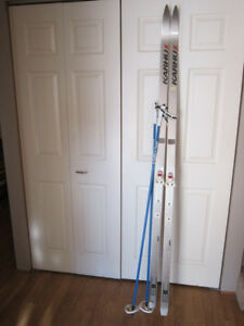 Karhu BC Graphite 200 X-Country Skis and poles