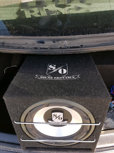 "12"" subwoofer  boxes 60$ for both"
