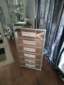 Mirrored drawers. Upcycled