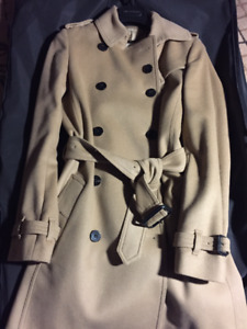 NEW Burberry Wool Cashmere Trench Coat