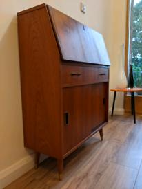 Stunning original mid century Turnidge of London bureau writing desk r