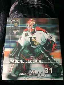 Autographed Pascal Leclaire Rookie Mooseheads Picture
