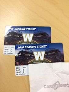 Pair of Tickets for Blue Bombers Home Opener June 24