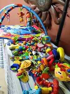 Baby exercise mat and toys