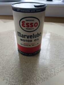 Esso Marvelube 1 Quart Antique Oil Can