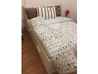 Ikea Brimnes Standard Double Bed with storage headboard